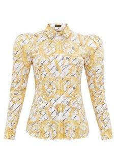 Versace Signature-print cotton-poplin shirt