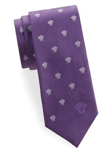 Versace Silk Medusa Tie
