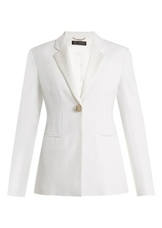 Versace Single-breasted satin-trimmed cady blazer