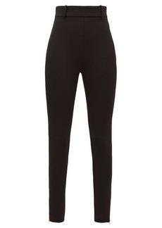 Versace Skinny zip-cuff stretch-jersey leggings