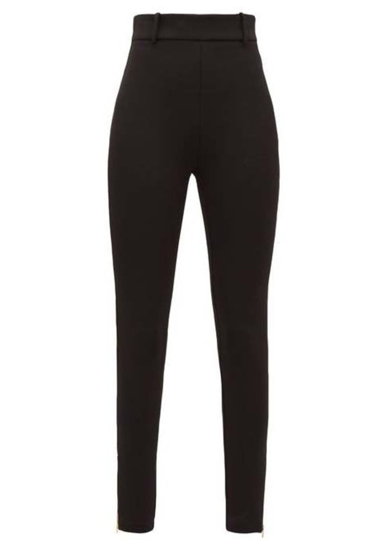 Versace Skinny zip-cuff stretch-jersey leggings