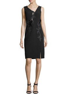 Versace Sleeveless Bead-Embroidered Cocktail Dress