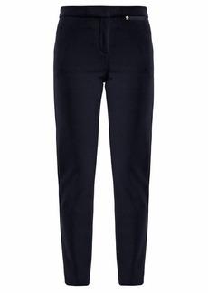Versace Slim-leg stretch-cady trousers