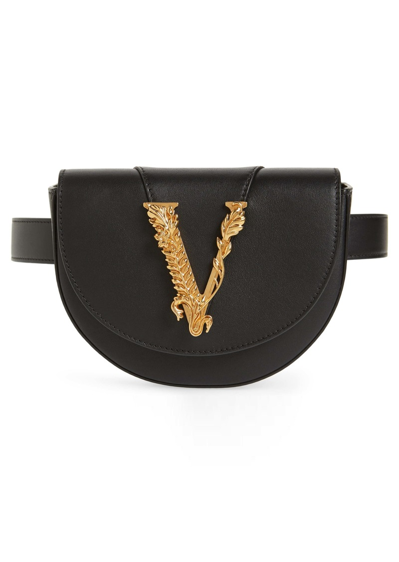 Versace Smooth Leather Belt Bag