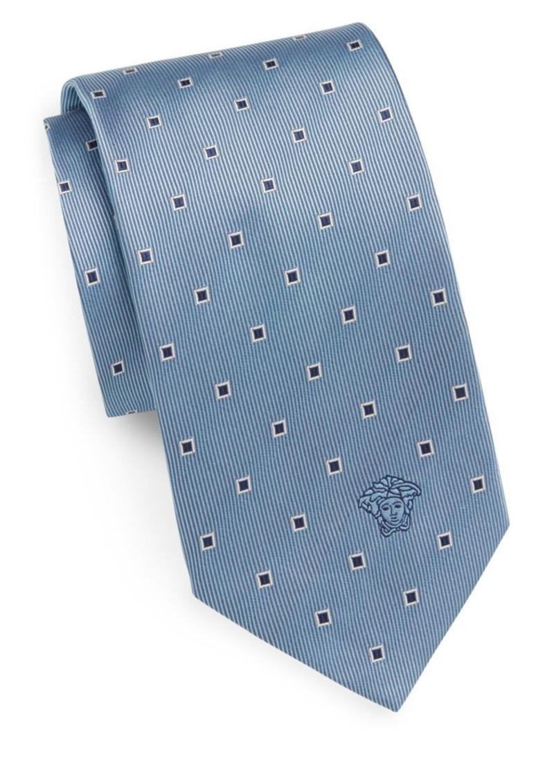 Versace Spliced Square Silk Tie