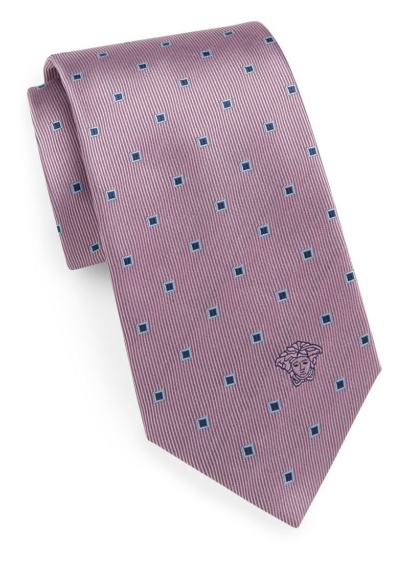 Versace Spliced Square Silk Tie