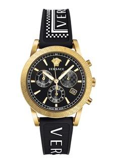 Versace Sport Tech Chronograph Rubber Strap Watch, 40mm