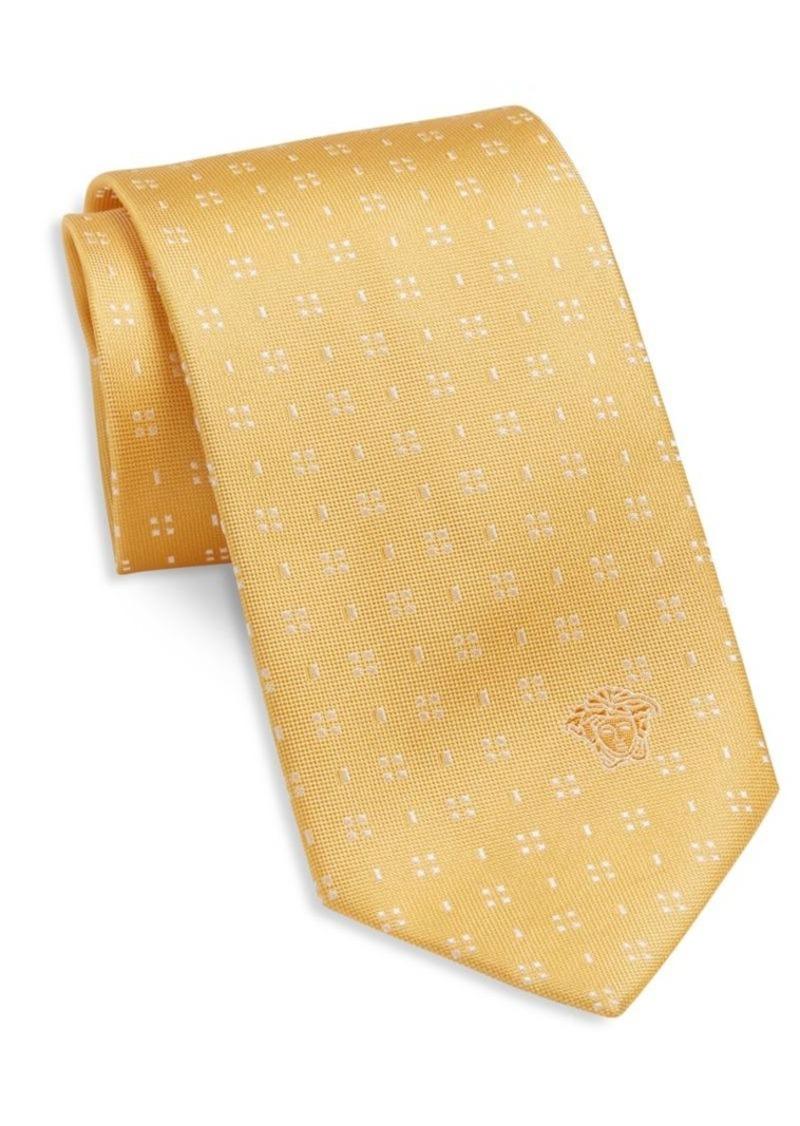 Versace Square Dot Silk Tie