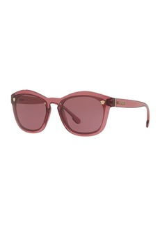 Versace Square Monochromatic Medusa-Detail Sunglasses