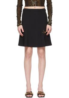 Versace SSENSE Exclusive Black Safety Pin Miniskirt