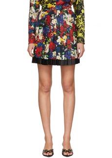 Versace SSENSE Exclusive Multicolor Silk Floral Mini Pleated Skirt