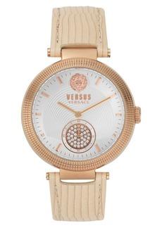 Versus Versace Star Ferry Leather Strap Watch, 38mm