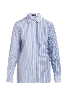 Versace Striped cotton-poplin shirt