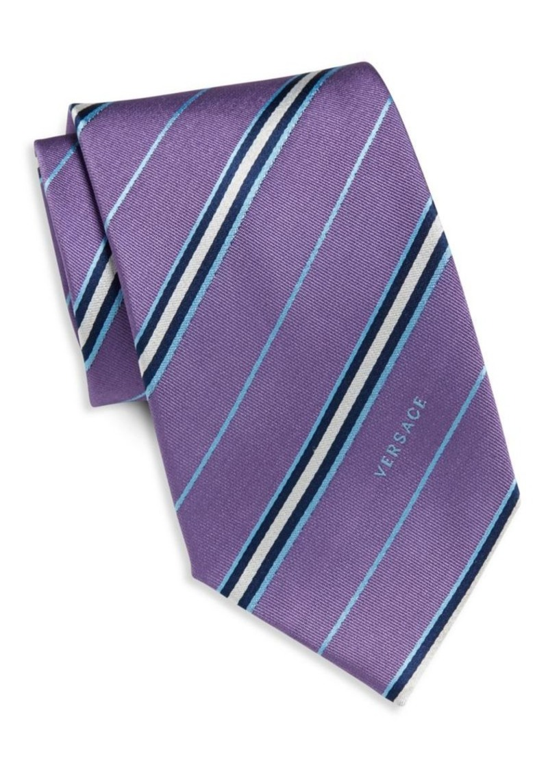 Versace Collection Striped Silk Tie