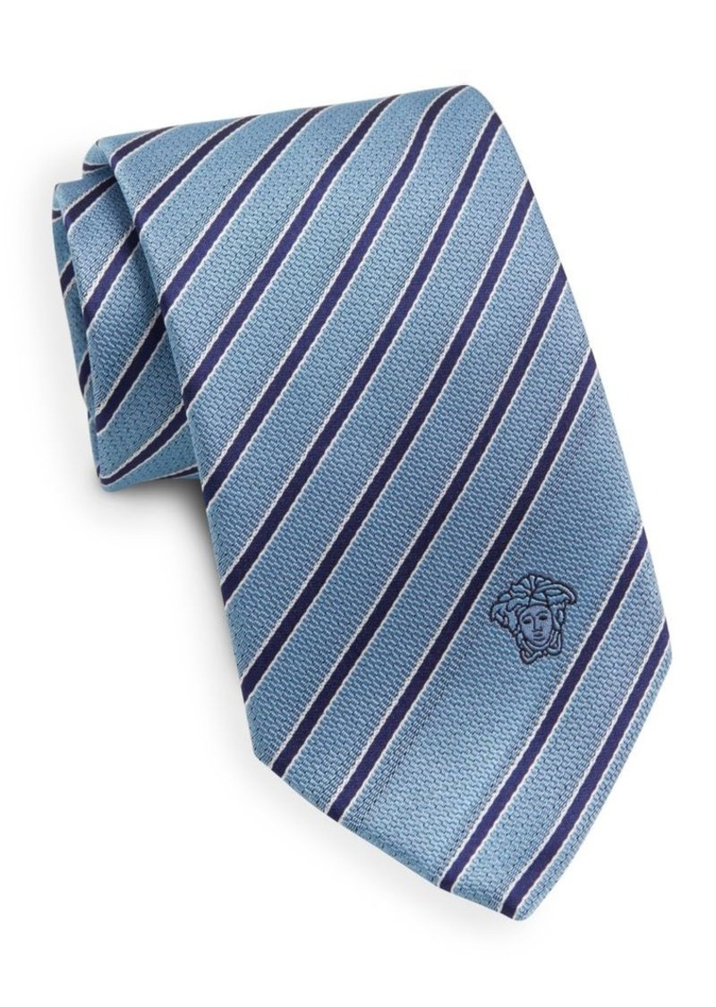 Versace Striped Silk Tie