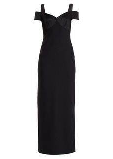 Versace Sweetheart-neck off-the-shoulder crepe gown