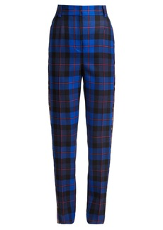 Versace Tartan wool tapered trousers