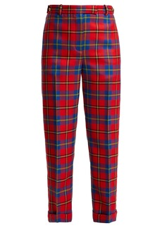Versace Tartan wool trousers