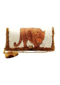 Versace Tassel-trimmed printed shoulder bag