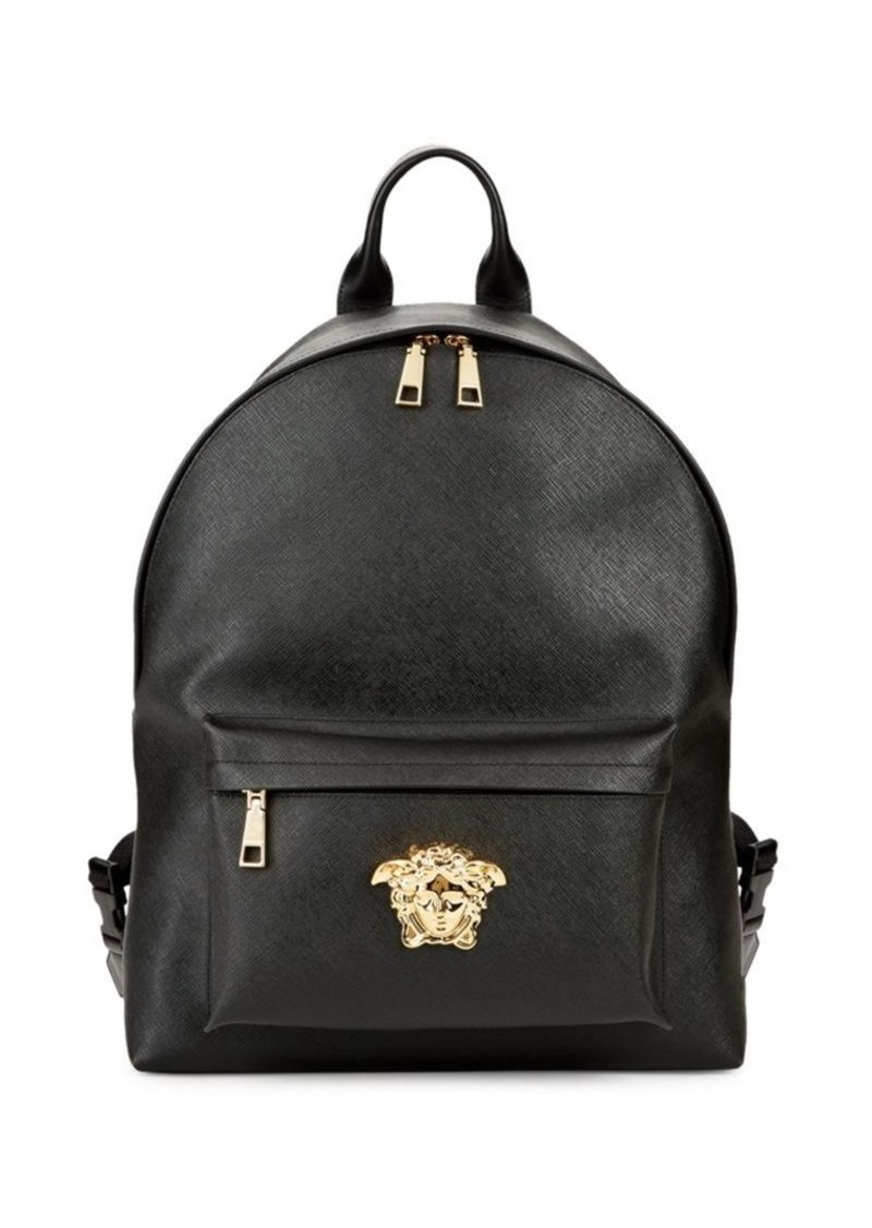 6dc07f1b37c5 Versace Versace Textured Faux Leather Backpack