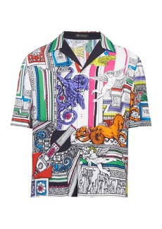 Versace The Temple printed twill shirt