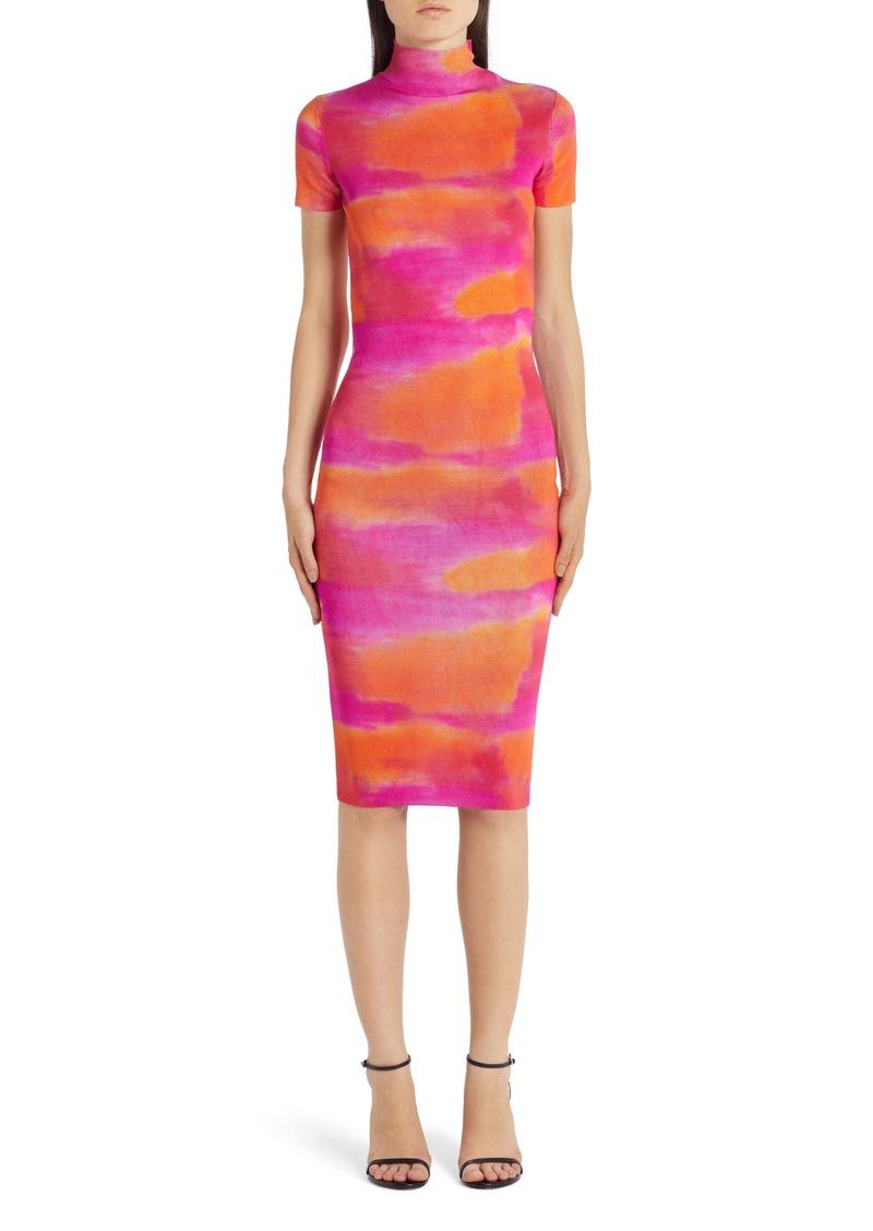 Versace Tie Dye Silk Sweater Dress