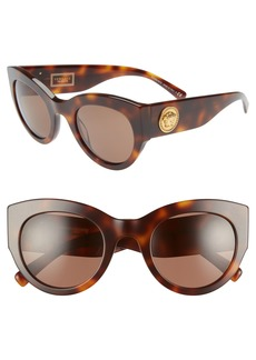 Versace Tribute 51mm Cat Eye Sunglasses