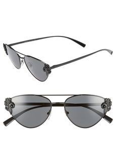 Versace Tribute 56mm Aviator Sunglasses
