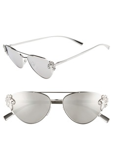 Versace Tribute 56mm Aviator Sunglasses