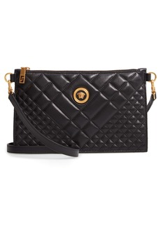 Versace Flat Tribute Icon Quilted Crossbody Bag