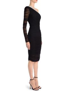 Versace Tulle One-Shoulder Dress