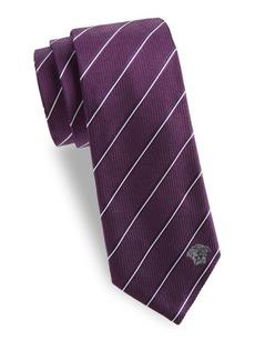 Versace Two-Tone Fine Stripe Silk Tie