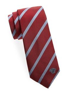 Versace Two Tone Stripe Silk Tie