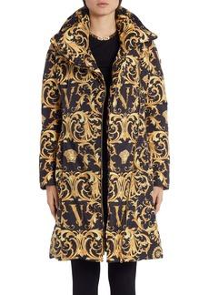 Versace V-Barocco Print Down Puffer Coat