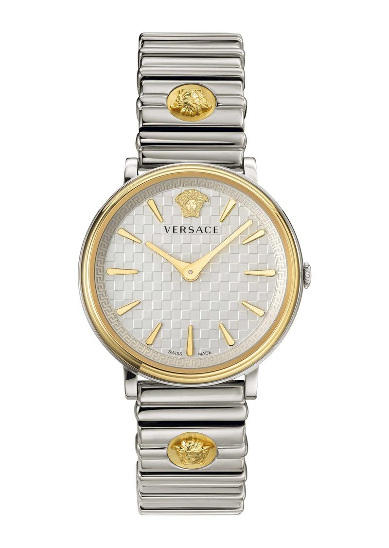 Versace V Circle Logo Bracelet Watch, 38mm