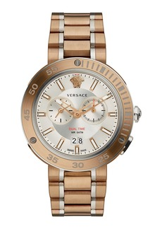 Versace V-Extreme Pro Multifunction Dual Time Watch with Bracelet
