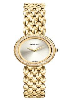 Versace V-Flare Diamond Dial Bracelet Watch, 28mm