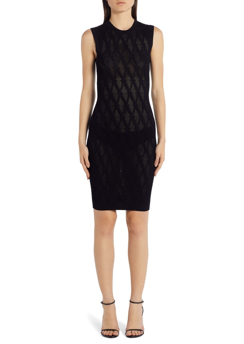 Versace V-Knit Body-Con Sweater Dress