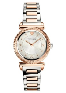 Versace V Motif Bracelet Watch, 35mm