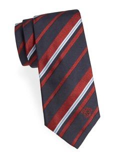 Versace Variegated Stripe Silk Tie