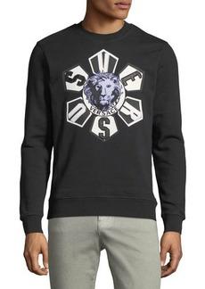 Versace Versus Lion-Embroidered Sweatshirt