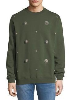 Versace Versus Logo Appliqués Sweatshirt