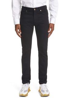 Versace Via Gesù Logo Plaque Slim Fit Jeans