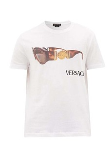 Versace Vintage-sunglasses and logo-print cotton T-shirt