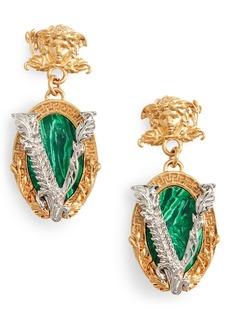 Versace Virtus Barocco Drop Earrings