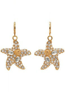 Versace White Trésor De La Mer Starfish Drop Earrings