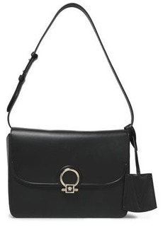 Versace Woman Leather Shoulder Bag Black