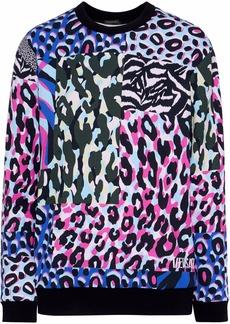 Versace Woman Printed Cotton-fleece Sweatshirt Multicolor