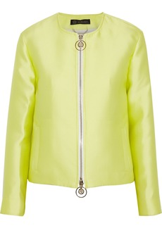 Versace Woman Satin-faille Jacket Bright Yellow