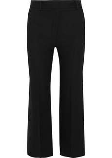 Versace Woman Silk-crepe Kick-flare Pants Black
